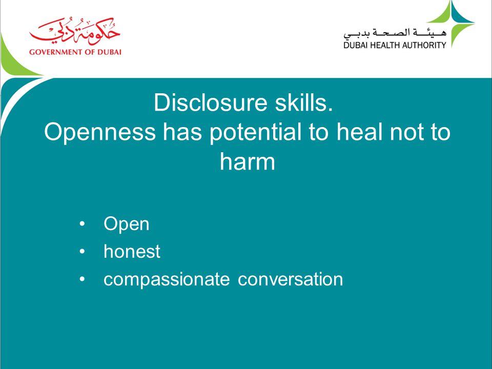 Disclosure skills.