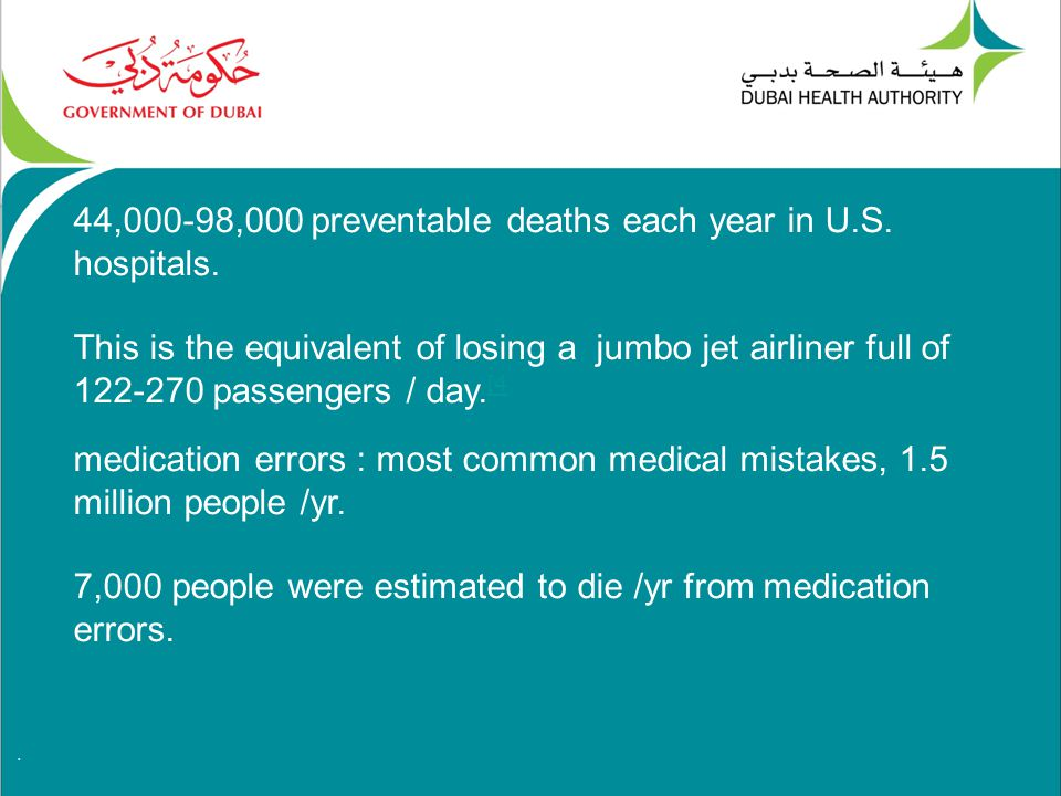 44,000-98,000 preventable deaths each year in U.S.