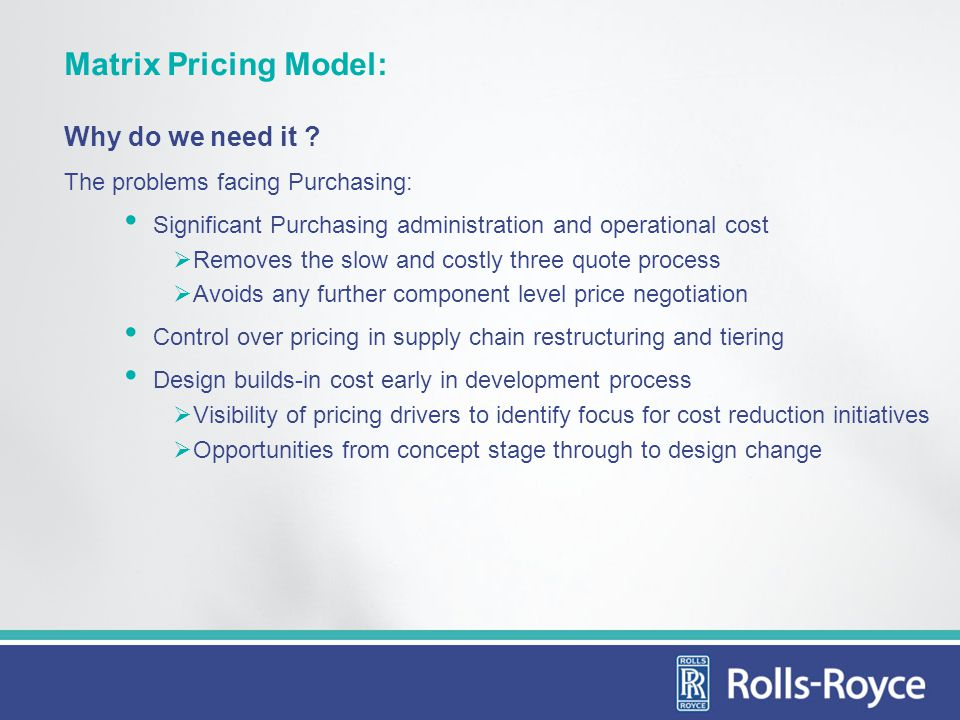 Matrix Pricing Model: Why do we need it .
