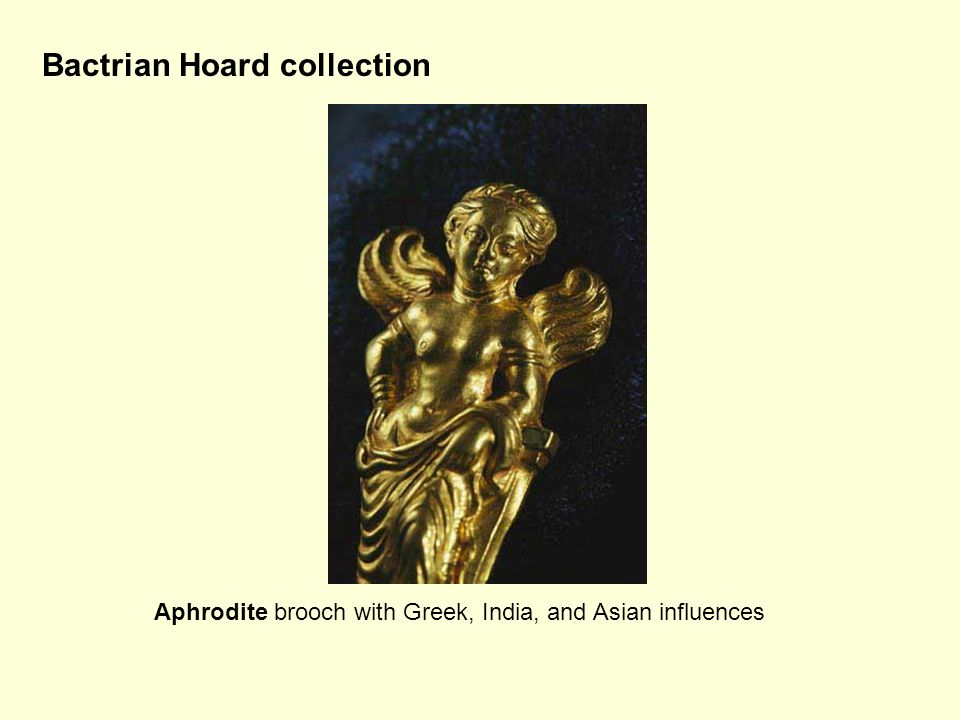 Bactrian Hoard collection Aphrodite brooch with Greek, India, and Asian influences