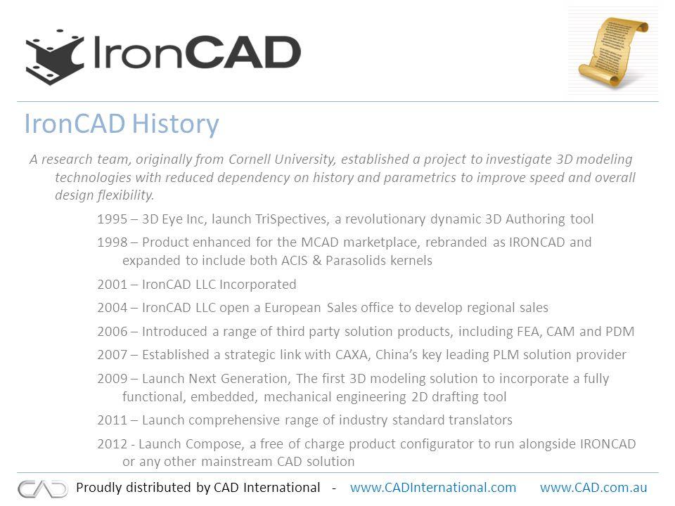 www.CADInternational.comwww.CAD.com.au Proudly distributed by CAD International - Success.