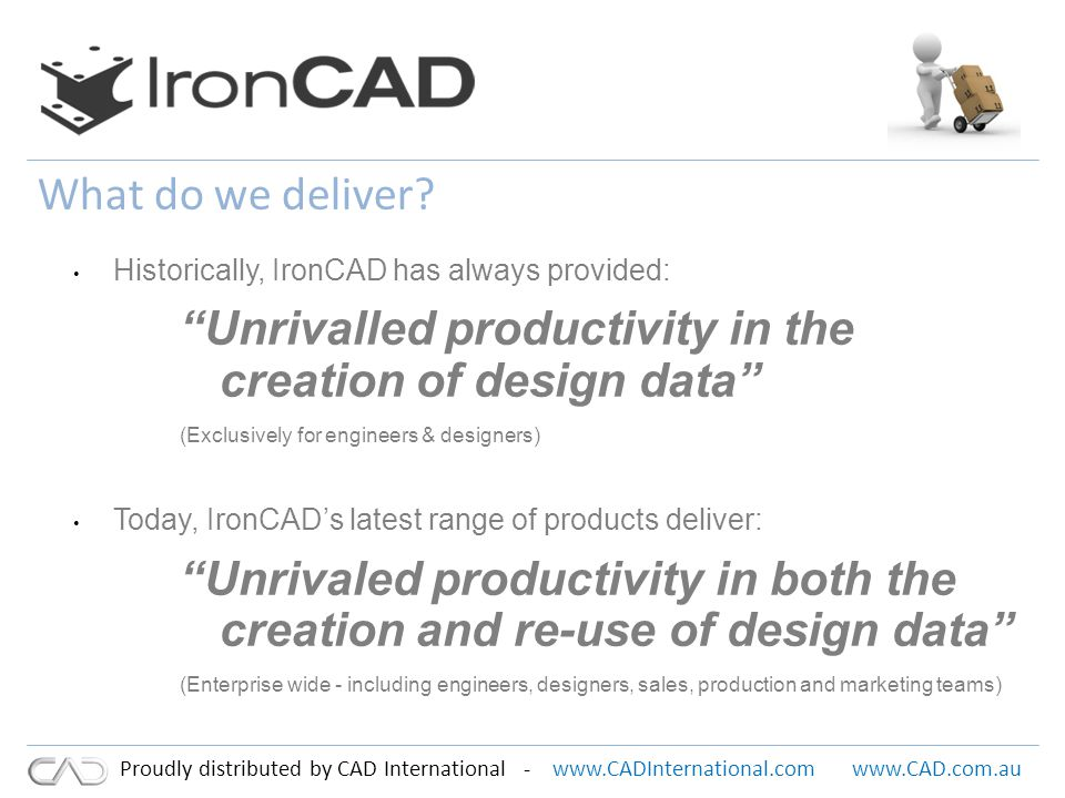 www.CADInternational.comwww.CAD.com.au Proudly distributed by CAD International - What do we deliver.