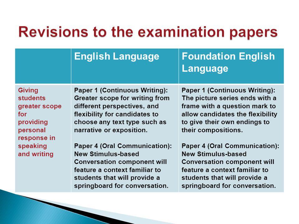 Revision practices EL activities in and around school