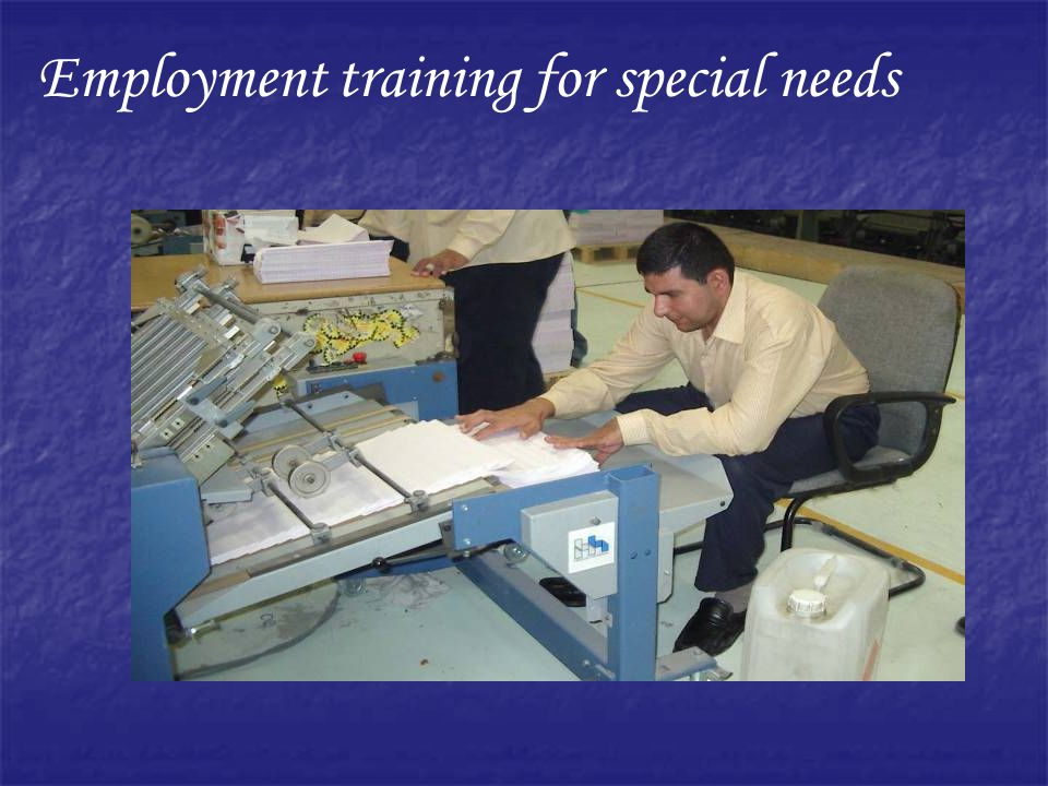 Employment training for special needs