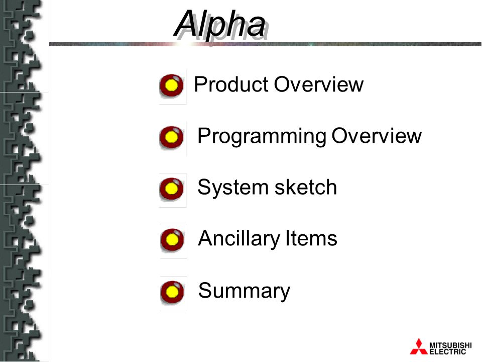 Alpha Programming directly from the front Monitoring LCD-Display & 8 keys Menu driven operation All function data displayed simultaneously