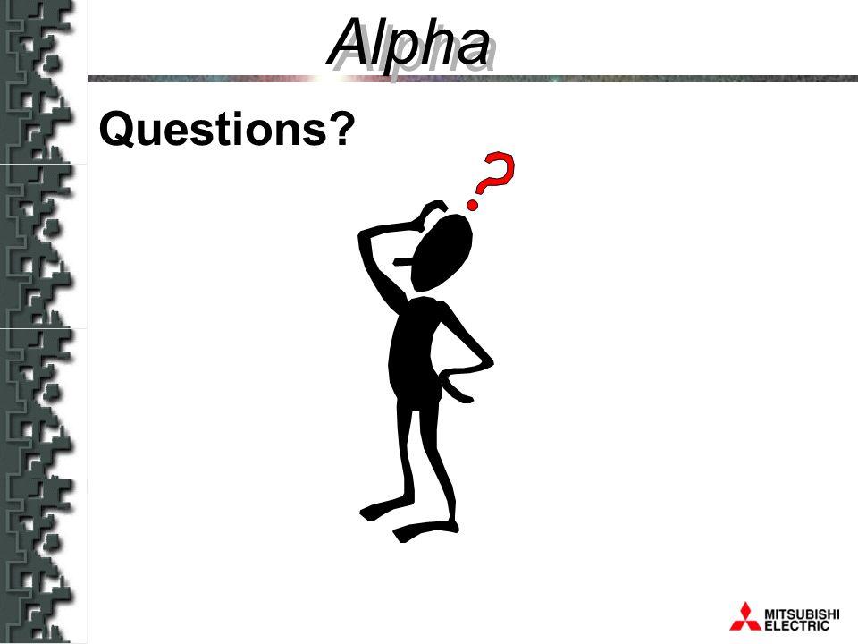 Alpha Questions Alpha