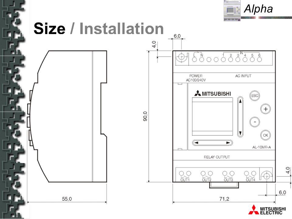 Alpha Size / Installation