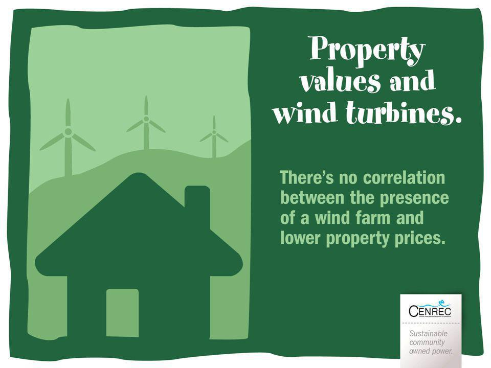 Property Theres no correlation between the presence of a wind farm and lower property prices.