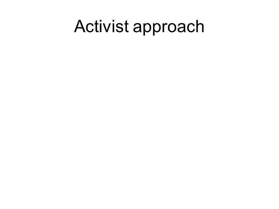 Activist approach
