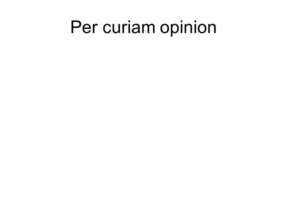 Per curiam opinion
