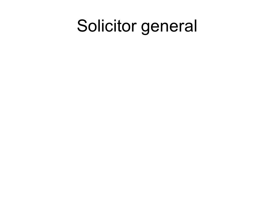 Solicitor general