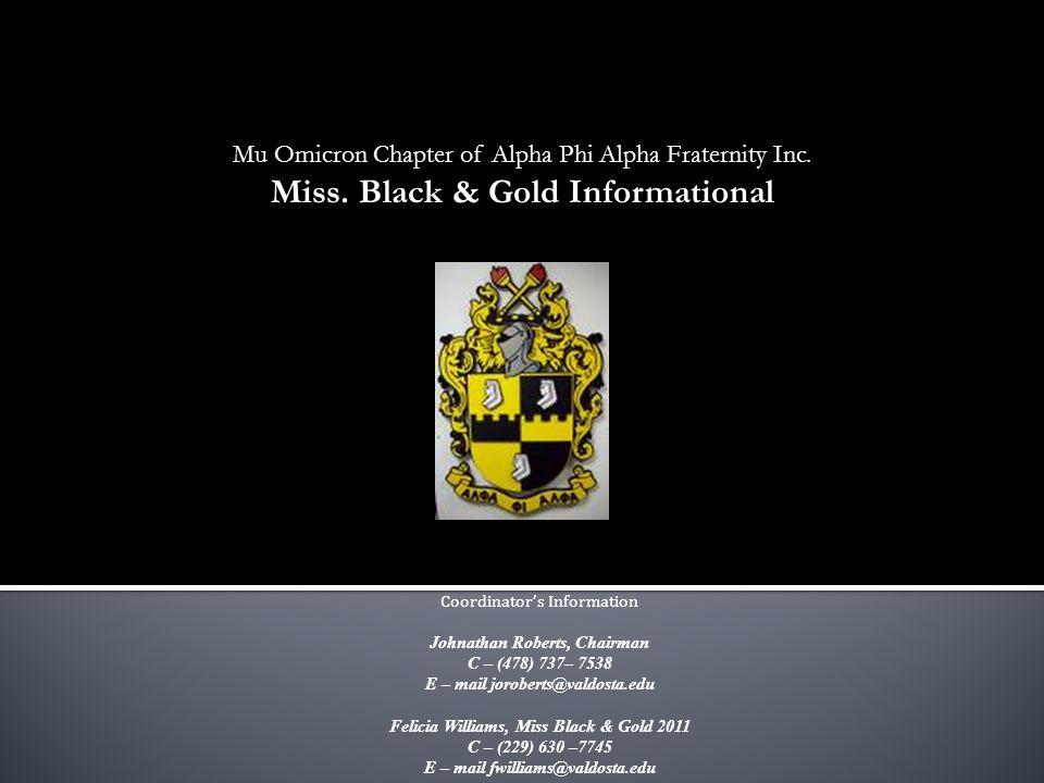 Mu Omicron Chapter of Alpha Phi Alpha Fraternity Inc.