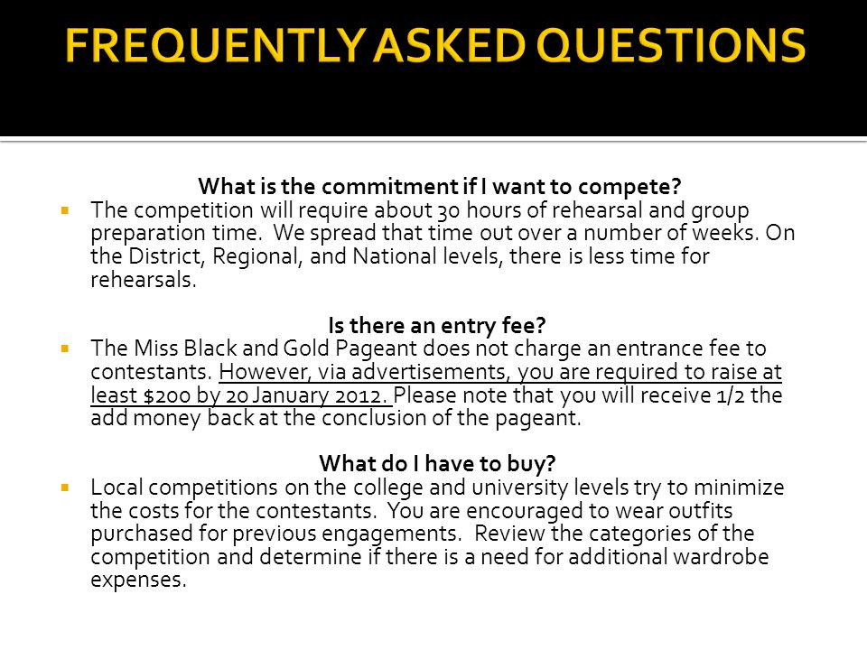 What is the commitment if I want to compete.