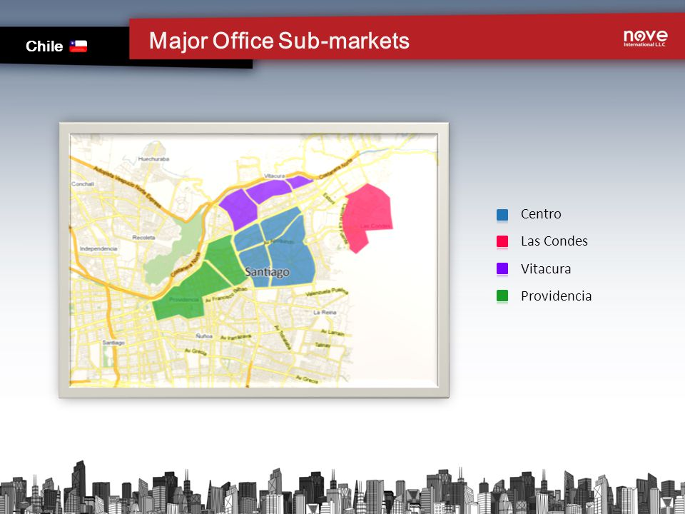 Major Office Sub-markets Chile Centro Las Condes Vitacura Providencia