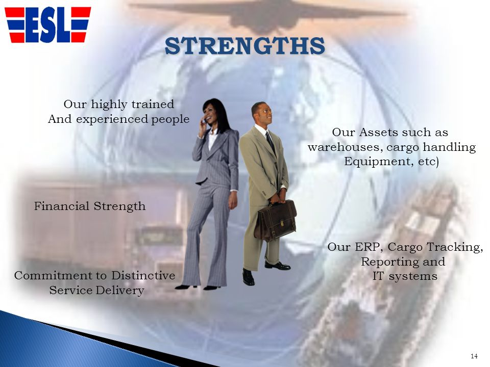 STRENGTHS 14 Our highly trained And experienced people Our Assets such as warehouses, cargo handling Equipment, etc) Commitment to Distinctive Service Delivery Our ERP, Cargo Tracking, Reporting and IT systems Financial Strength