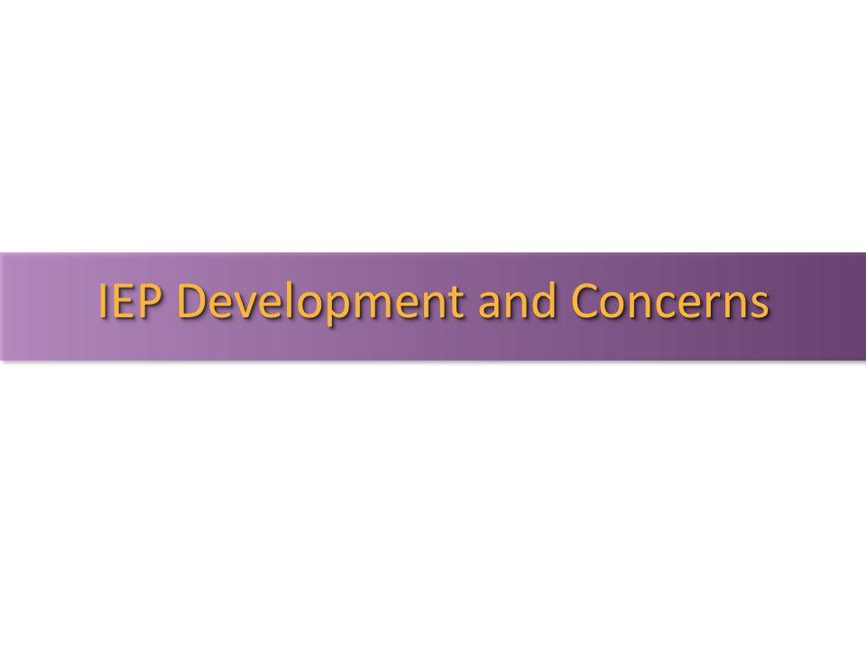 IEP Development and Concerns