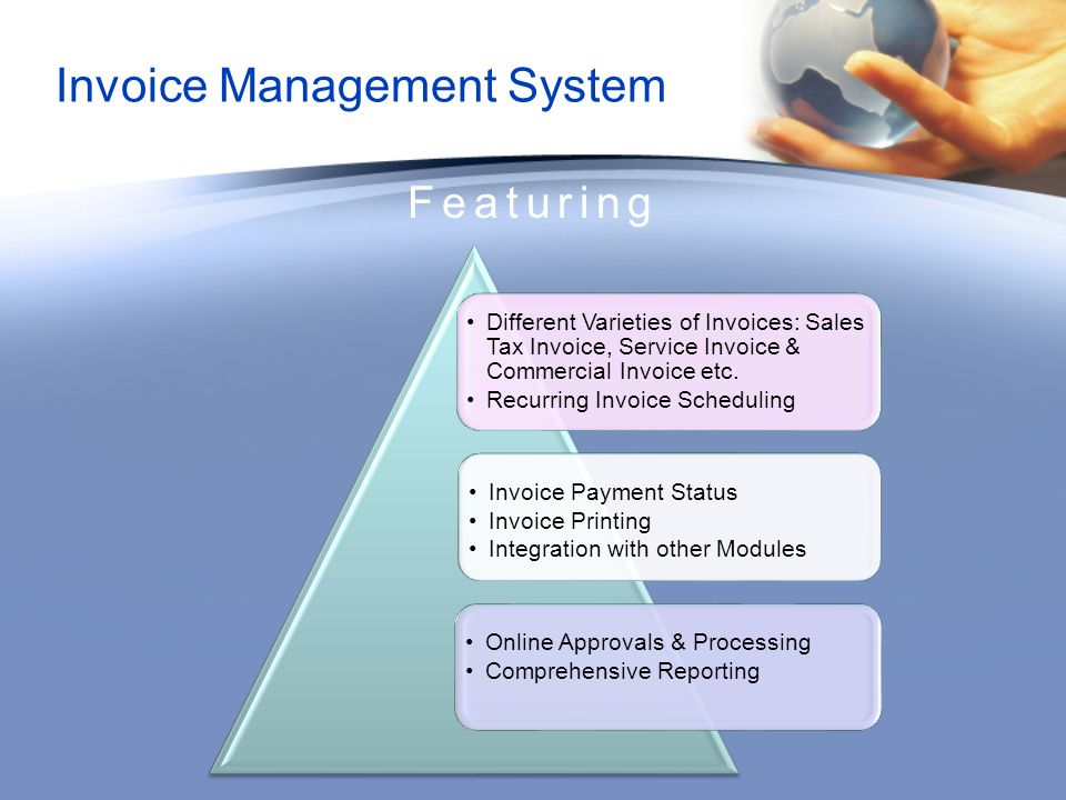 Invoice Management System Featuring Different Varieties of Invoices: Sales Tax Invoice, Service Invoice & Commercial Invoice etc.