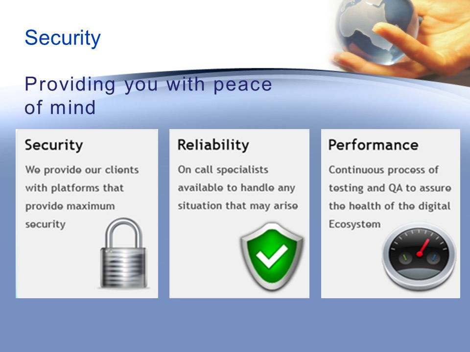 Providing you with peace of mind Security