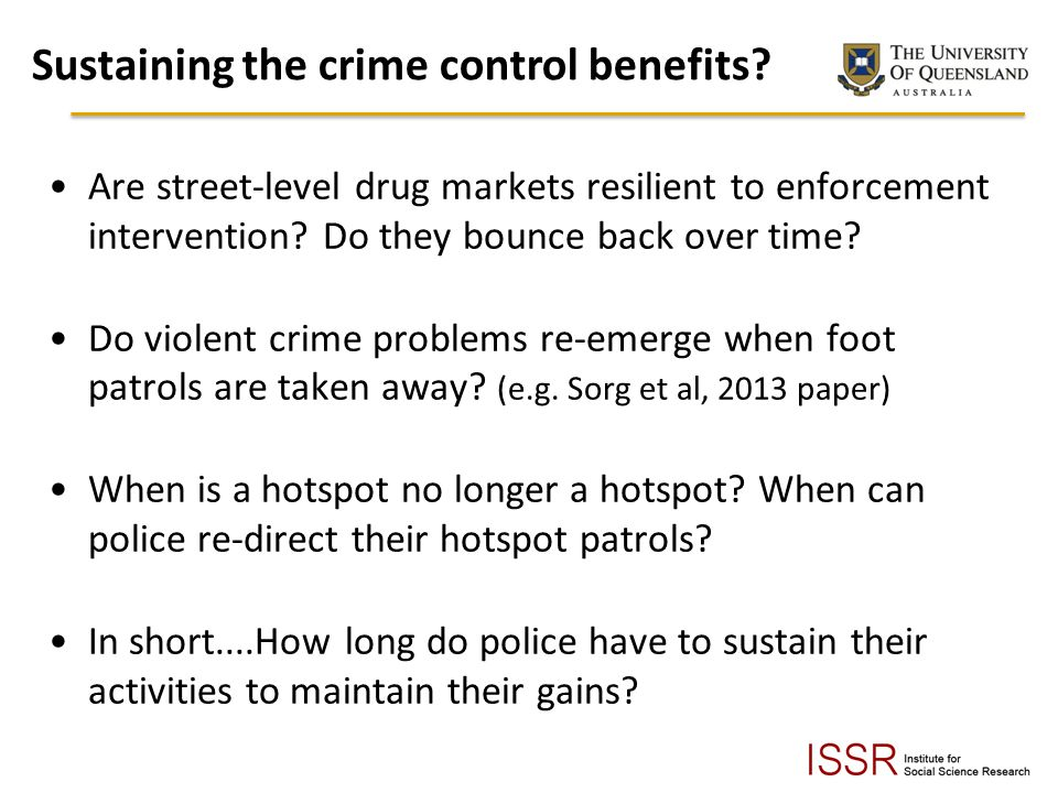 Are street-level drug markets resilient to enforcement intervention.