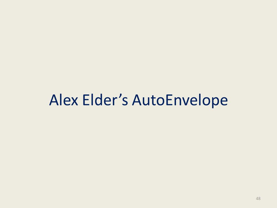 Alex Elders AutoEnvelope 48