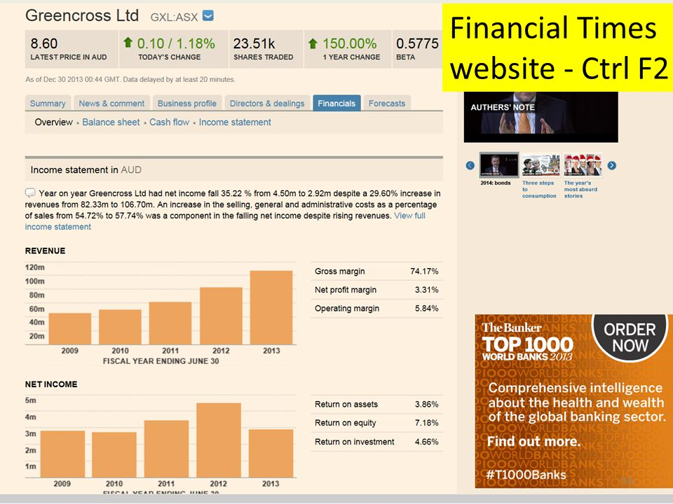 Financial Times website - Ctrl F2 53