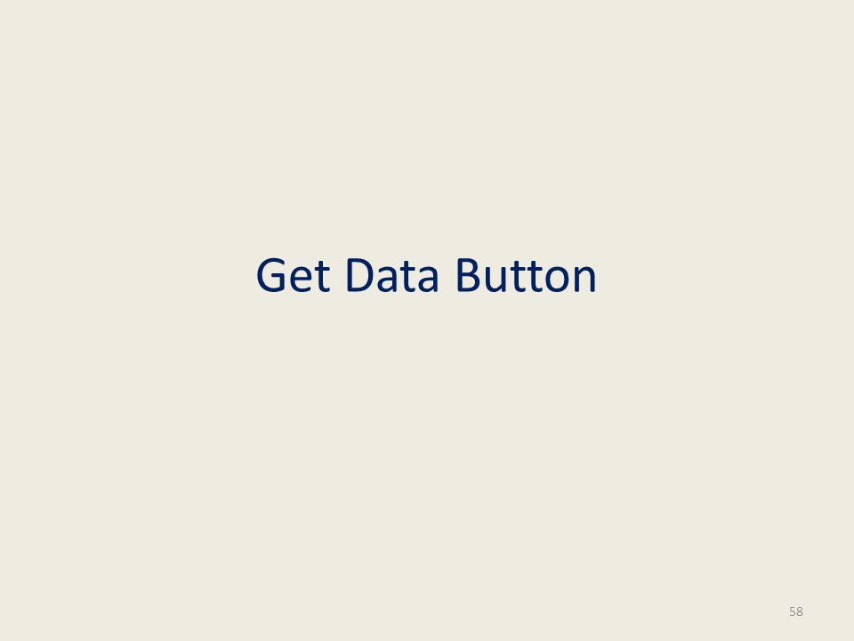 Get Data Button 58