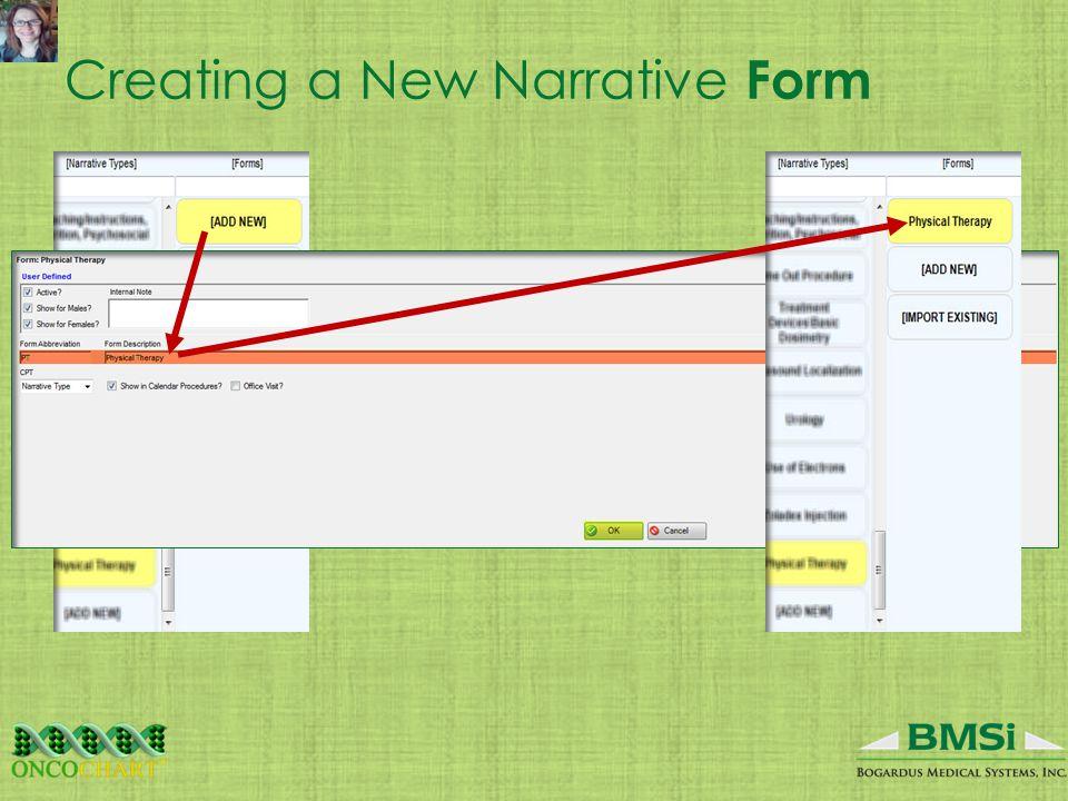 Creating a New Narrative Form