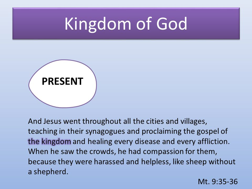 Kingdom of God PRESENT