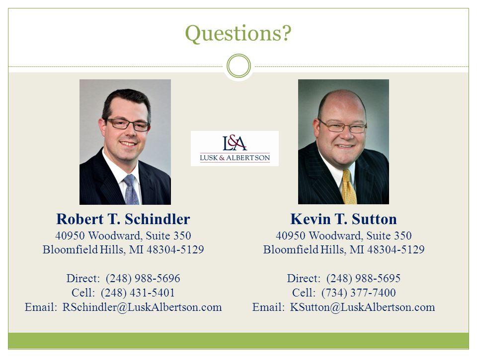 Questions. Robert T.
