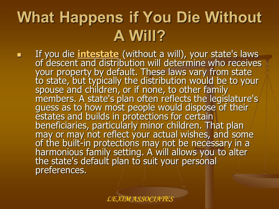 What Happens if You Die Without A Will.