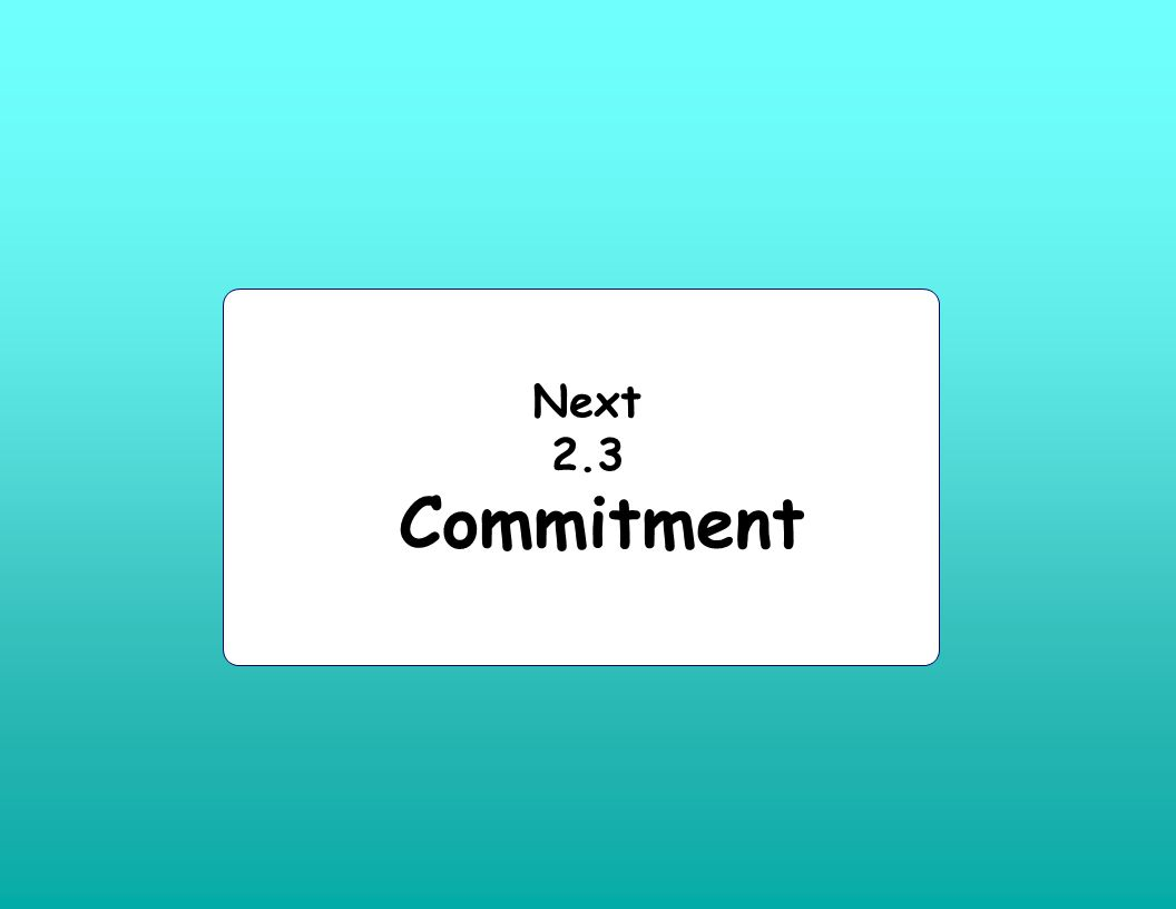 Next 2.3 Commitment
