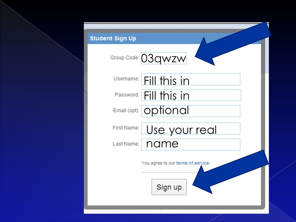 03qwzw optional Fill this in Use your real name
