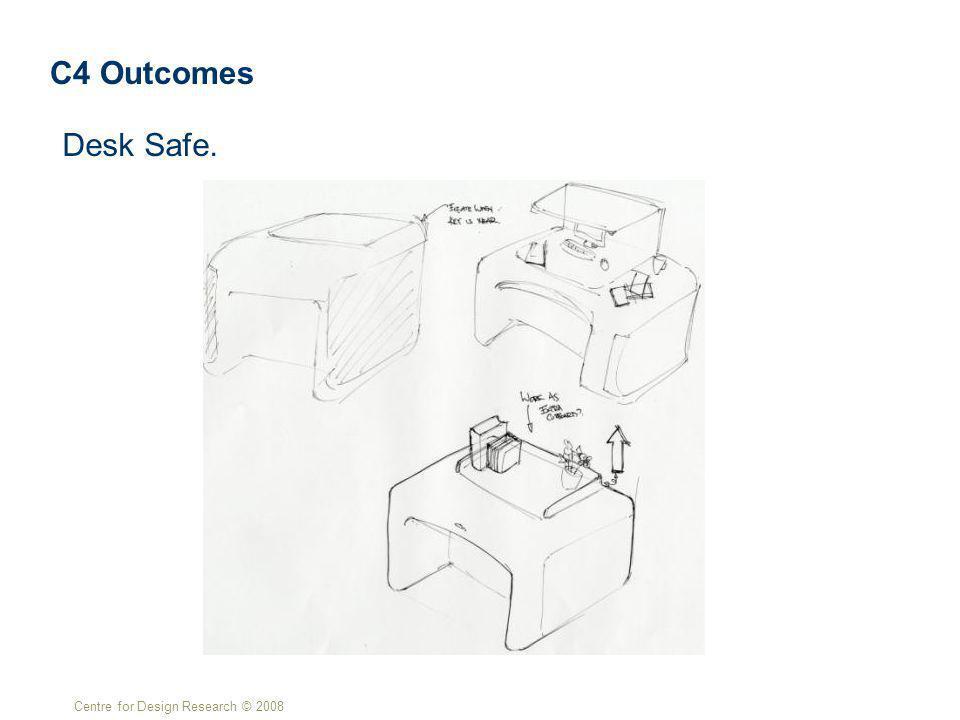 Centre for Design Research © 2008 Desk Safe. C4 Outcomes