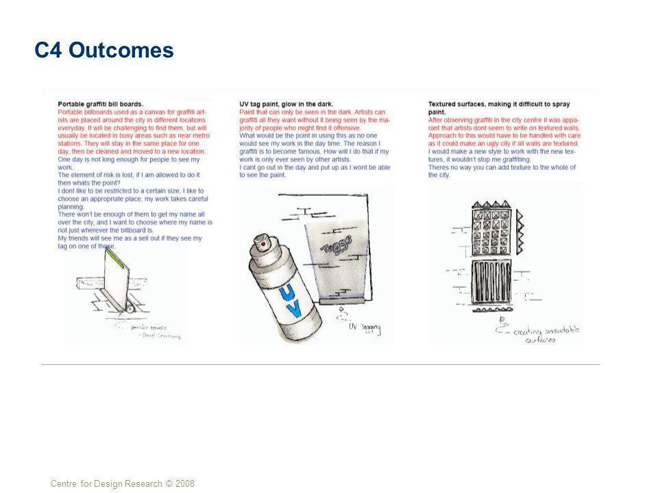Centre for Design Research © 2008 C4 Outcomes