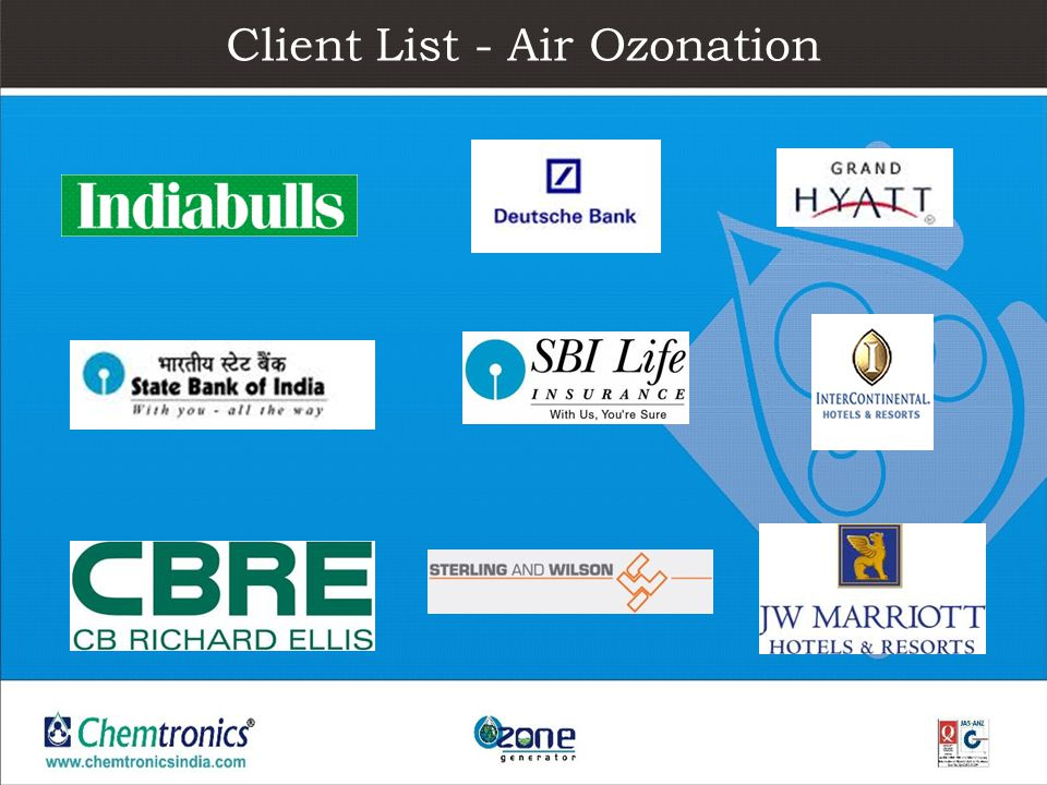 Client List - Air Ozonation