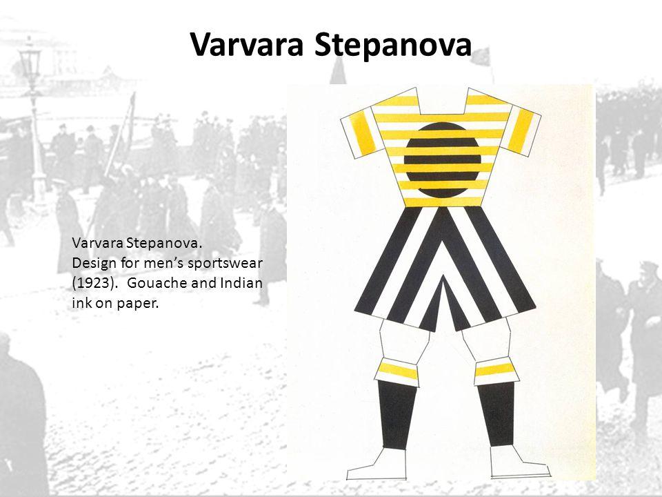 Varvara Stepanova Varvara Stepanova. Design for mens sportswear (1923). Gouache and Indian ink on paper.