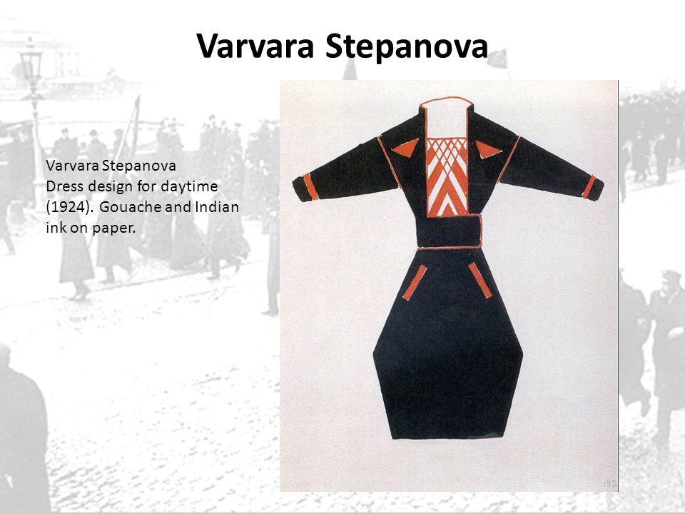 Varvara Stepanova Dress design for daytime (1924). Gouache and Indian ink on paper.
