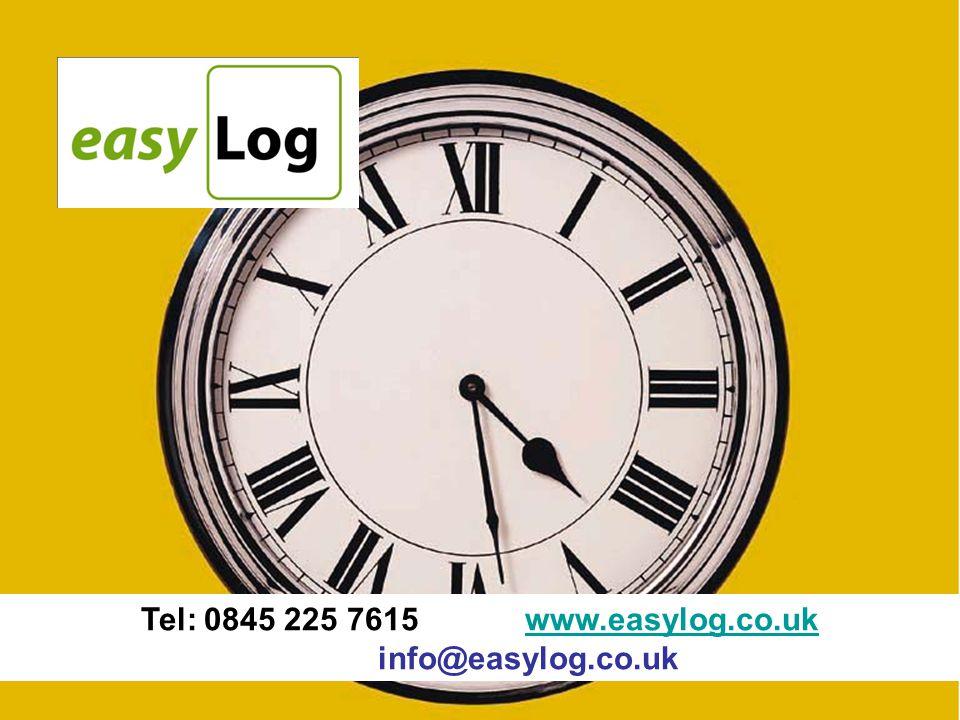 Tel: 0845 225 7615www.easylog.co.uk info@easylog.co.ukwww.easylog.co.uk