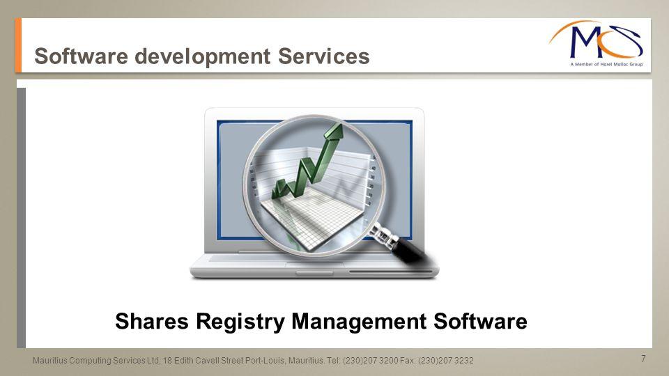 8 a a Mauritius Computing Services Ltd, 18 Edith Cavell Street Port-Louis, Mauritius.
