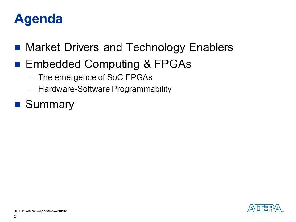 © 2011 Altera CorporationPublic Hardware-Software Co-Design for SoC FPGAs 13
