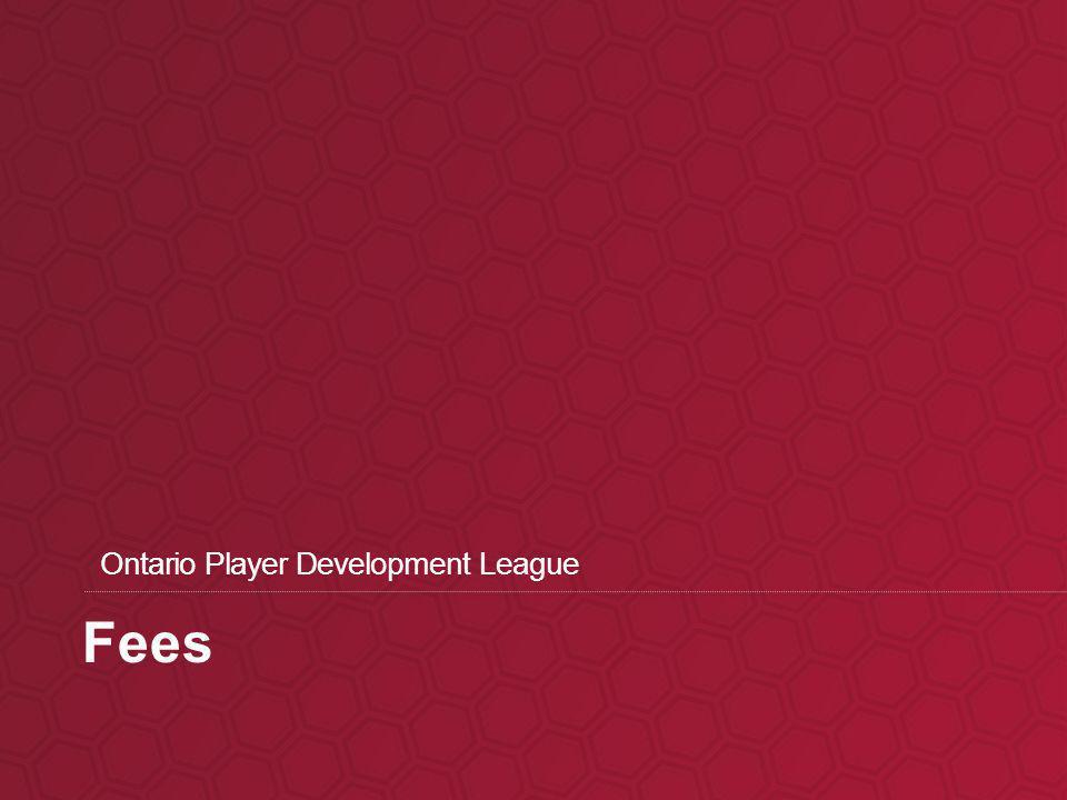 Fees Ontario Player Development League