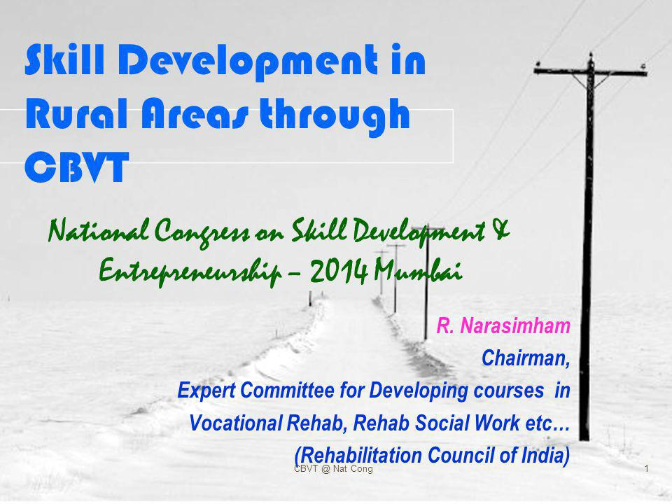 Vocational Rehabilitation Vocational training & employment are the final and most vital component of social inclusion of the pwd.
