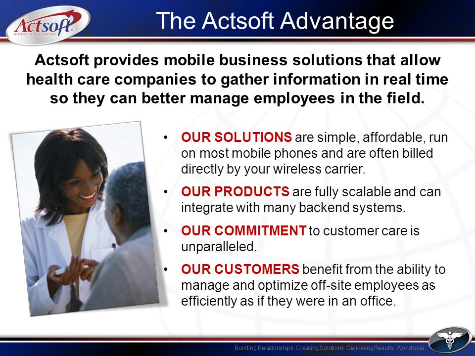 Building Relationships.Creating Solutions. Delivering Results.