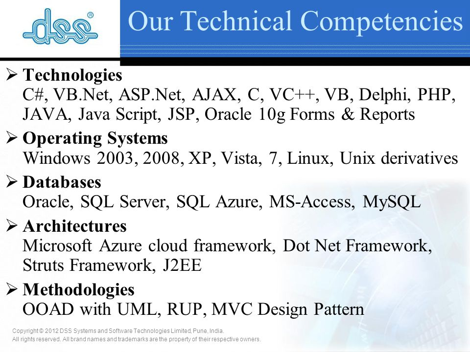 Copyright © 2012 DSS Systems and Software Technologies Limited, Pune, India.