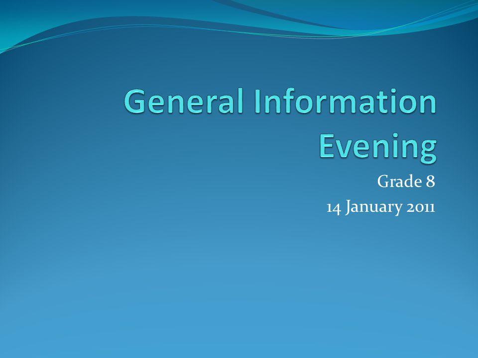 Grade 8 14 January 2011