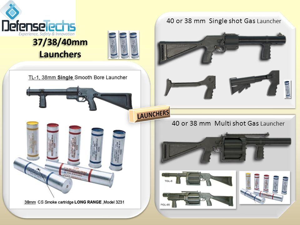 40 or 38 mm Single shot Gas Launcher 37/38/40mm Launchers 40 or 38 mm Multi shot Gas Launcher