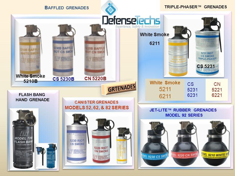 White Smoke 5210B CS 5230B CN 5220B CN 5221 6221 CS 5231 6231 White Smoke 5211 6211 CS 5231 White Smoke 6211 B AFFLED GRENADES TRIPLE-PHASER GRENADES