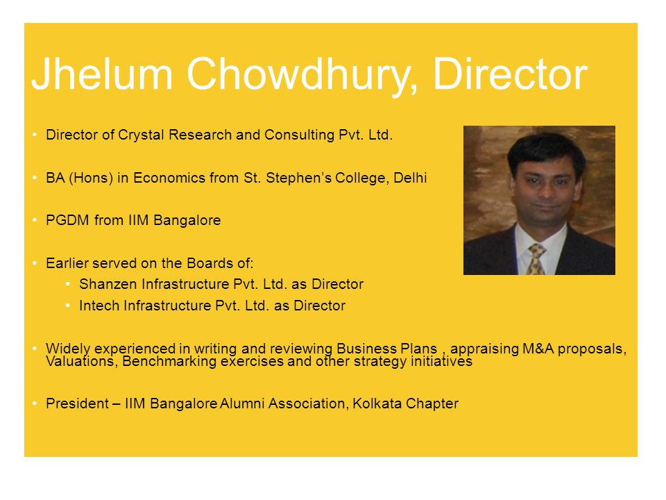 Barun Das, Director Director of Crystal Research and Consulting Pvt.