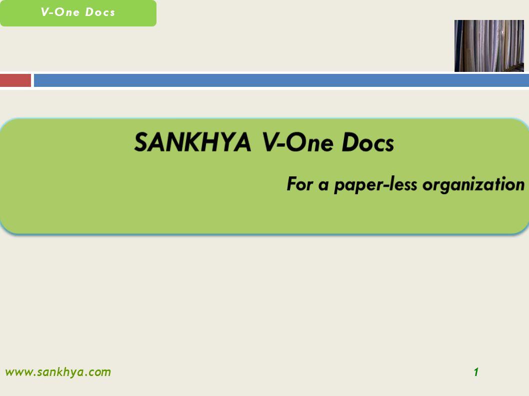 www.sankhya.com1 V-One Docs