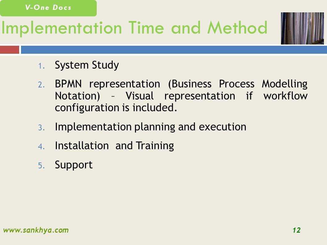 www.sankhya.com12 V-One Docs 1. System Study 2.